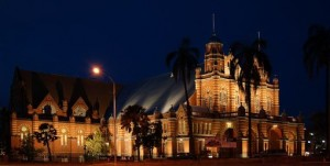 Image of Old Museum at night
